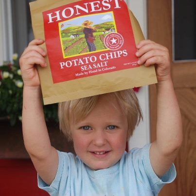 Boy with Honest Potato Chips