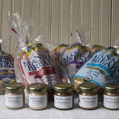 Organic Sprouted Bread and Nut Butter Sampler