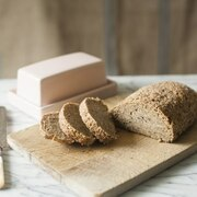 Sprouted grain bread made from whole, live grains