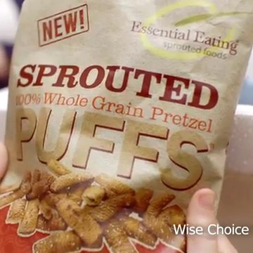 Sprouting adds great flavor to whole grain Pretzel Puffs!
