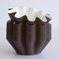 Brown Floret Baking Cups