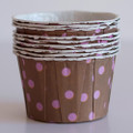 Milk Chocolate and Pink Polka Dot Nut Cups