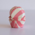 Mini Vintage Pink Zebra Cupcake Liners