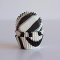 Mini Black Zebra Cupcake Liners