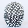 Black Licorice Houndstooth Cupcake Liners
