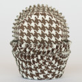 Chocolate Brown Houndstooth Cupcake Liners