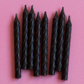 Black Licorice Large Spiral Candles