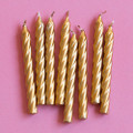 Gold Large Spiral Candles