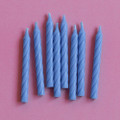 Sky Blue Large Spiral Candles