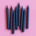 Denim Blue Large Spiral Candles