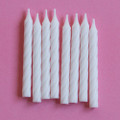 Plain White Large Spiral Candles