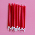 Cherry Red Tapered Candles