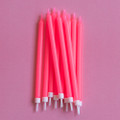 Hot Pink Tapered Candles