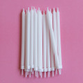 Plain White Tapered Candles