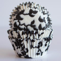 Black Licorice Ivy Cupcake Liners