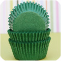 Green Glassine Cupcake Liners
