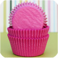 Hot Pink Glassine Cupcake Liners