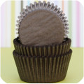 Dark Chocolate Brown Glassine Cupcake Liners