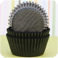 Black Licorice Glassine Cupcake Liners