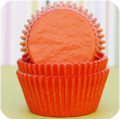 Tangerine Orange Glassine Baking Cups