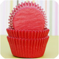 Cherry Red Glassine Cupcake Liners