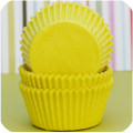 Lemon Yellow Glassine Cupcake Liners