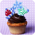 Snow Mix Cupcake Toppers