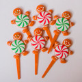 Christmas Gingerbread and Peppermint Toppers