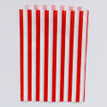 Cherry Red Stripe Candy Bags