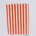 Tangerine Orange Stripe Candy Bags