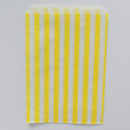 Lemon Yellow Stripe Candy Bags