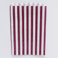 Burgundy Stripe Candy Bags
