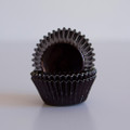 Mini Black Licorice Foil Cupcake Liners