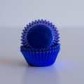Mini Royal Blue Foil Cupcake Liners