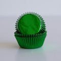Mini Green Foil Cupcake Liners