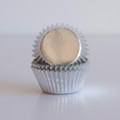 Mini Silver Foil Cupcake Liners