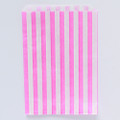 Bubblegum Pink Stripe Candy Bags