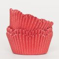 Tomato Red Scalloped Cupcake Liners