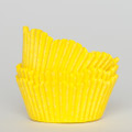 Lemon Yellow Scalloped Cupcake Liners