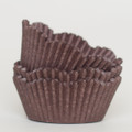 Dark Chocolate Brown Scalloped Cupcake Liners