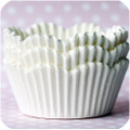 White Scalloped Cupcake Liners