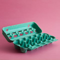 Paper Egg Cartons: Teal Green