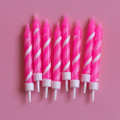 Pink Peppermint Candles