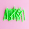 Green Solid Spiral Party Candles