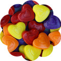 Crazy Colored Heart Candies