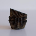 Mini Black  and Gold Summer Plaid Cupcake Liners
