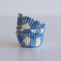 Mini Royal Blue Summer Plaid Cupcake Liners