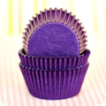 Plum Purple Glassine Cupcake Liners