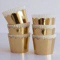 Round Gold Crown Baking Cups