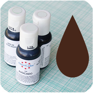 Bake It Pretty - Chocolate Brown Americolor Soft Gel Paste